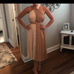 ASOS white/tan brand new dress